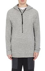 Public School Zipper Detailed Hoodie Grey