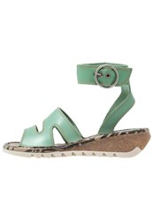 Fly London Tily Wedge Sandals Mynt Turquoise