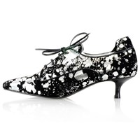 Kim Kwang Moonlight Effect Kitten Heel Silver Black Silver
