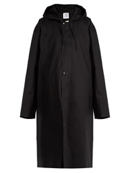 Vetements X Mackintosh Cotton Oversized Hooded Raincoat Black