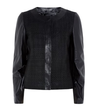 Maxmara Weekend Basket Weave Leather Jacket