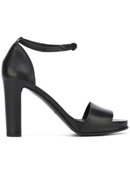 Roberto Del Carlo Chunky Heel Sandals Women Calf Leather Leather 37 Black