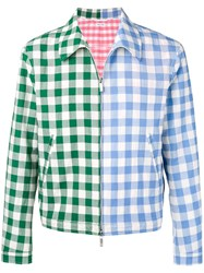 Thom Browne Fun Mix Gingham Golf Jacket Green