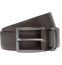 Hugo Boss 3.5Cm Brown Sopprin Full Grain Leather Belt Brown