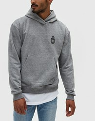 John Elliott Oversize Cropped Hoodie Strength And Conditioning Dark Grey