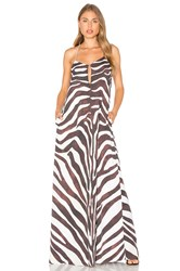 Mara Hoffman Zebra Maxi Dress Black And White