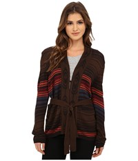 Obey Slowdive Cardigan Brown Multi Women's Sweater