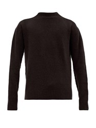 Schnayderman's Crew Neck Wool Blend Sweater Black
