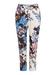 Part Two Floral Trouser Multi Coloured Multi Coloured
