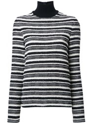 Martin Grant Striped Turtleneck Jumper Black