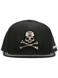 Philipp Plein Skull Plaque Cap Black