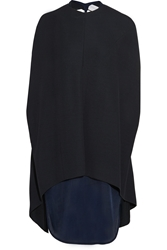 Esteban Cortazar Layered Stretch Knit And Jersey Dress