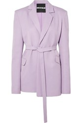 House Of Holland Belted Crepe Blazer Lilac