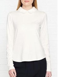 Hobbs Sasha Collared Top Ivory
