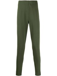 Z Zegna Slim Fit Track Trousers Green