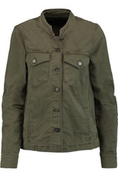 J Brand Stretch Cotton Jacket Army Green