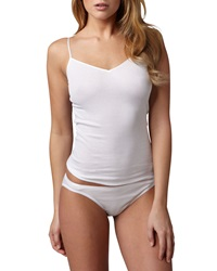 Hanro Cotton Seamless Camisole White White Large