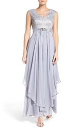 Eliza J Women's Embellished Lace And Chiffon Gown