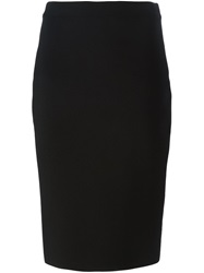 Givenchy Lace Up Pencil Skirt Black