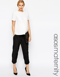 Asos Maternity Trousers With Elastic Cuff Black