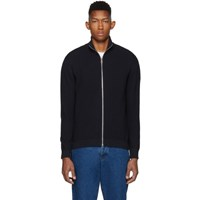 Paul Smith Ps By Navy Knit Zip Up Sweater