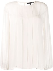 Luisa Cerano Pleated Front Blouse 60