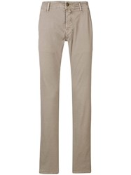 Jacob Cohen Straight Leg Chinos Grey