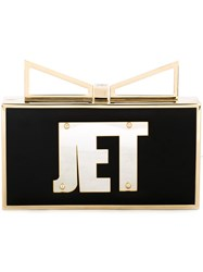 Sara Battaglia 'Lady Me Jet Set' Clutch Black