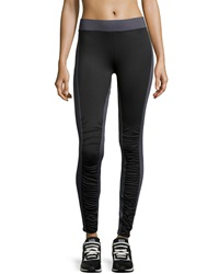 Xcvi Ruched Two Tone Leggings Black Charcoal