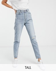 Dr. Denim Dr Tall Nora High Rise Mom Jean With Rip In Blue Black