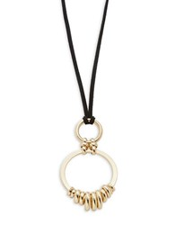 Rj Graziano Double Circle Pendant Cord Necklace Gold