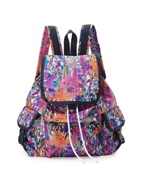 Le Sport Sac Lesportsac Voyager Printed Flap Top Backpack Magnificent