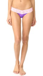 Hanky Panky Colorplay Low Rise Thong Royal Purple Blossom