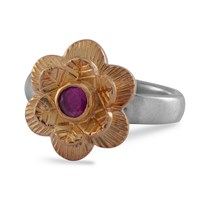 Emma Chapman Jewels Gypsy Rose Ruby Ring Red