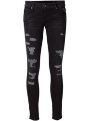Ksubi Distressed Skinny Jeans Black