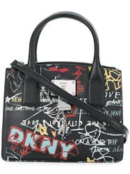 Donna Karan Small Graffiti Tote Black