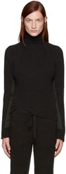 Haider Ackermann Black Mohair Xaviera Turtleneck