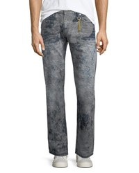 Robin's Jeans Distressed Denim Straight Leg Multi
