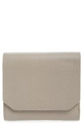 Nordstrom Leather Trifold Wallet Grey Grey Taupe