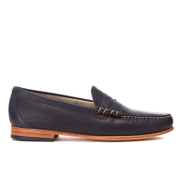 Bass Weejuns Men's Palm Springs Larson Mon Leather Penny Loafers Navy Blue