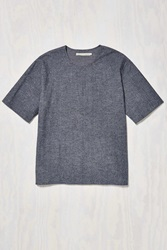 Shades Of Grey By Micah Cohen Woven Tee Dark Grey