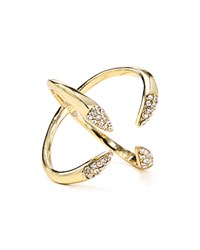 Rebecca Minkoff Pave Claw Ring Gold