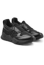 Robert Clergerie Salvy Sneakers With Leather Black