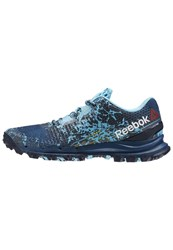 Reebok All Terrain Thrill Trail Running Shoes Noble Blue Coll Navy Crisp Blue Dark Blue