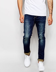 Superdry Mid Wash Jeans In Slim Fit Washedblue
