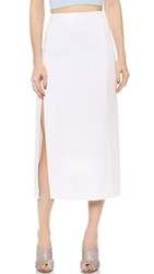 Thierry Mugler Skirt With Slit Off White