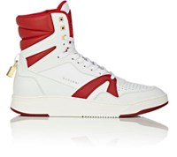 Buscemi Men's 150Mm Leather High Top Sneakers White