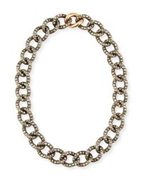 Pomellato Tango Brown And Black Diamond Link Necklace
