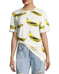 Libertine Crewneck Velvet Banana T Shirt White Yellow