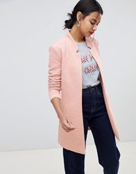Only Edge To Edge Coat Rose Pink